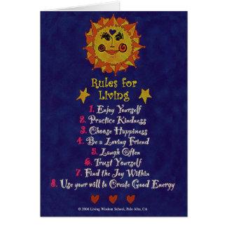 Regels om Te leven Briefkaarten 0