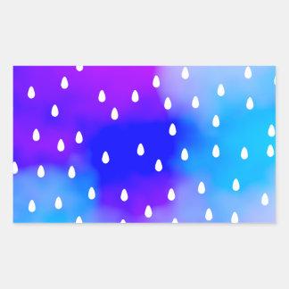 Regen met blauwe en paarse bewolkte hemel rechthoekige sticker