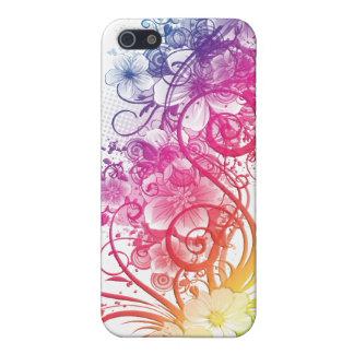 Regenboog BloemenPern ® Fitted™ Hard Shell C iPhone 5 Hoesjes