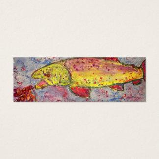 regenboog die vlieg achtervolgen mini visitekaartjes
