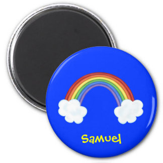 Regenboog en de Wolken Gepersonaliseerde Gift van  Magneet