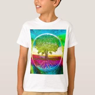 Regenboog Gekleurde Boom van het Leven T Shirt