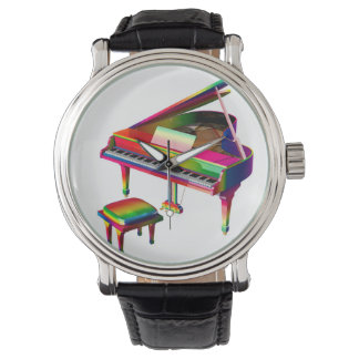 Regenboog Gekleurde Piano Horloge