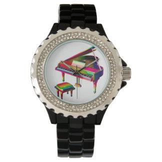 Regenboog Gekleurde Piano Polshorloge