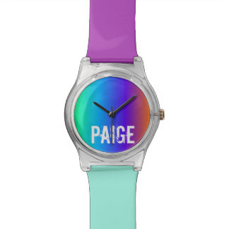 Regenboog Gepersonaliseerd Horloge