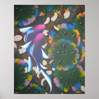 regenboog koi poster