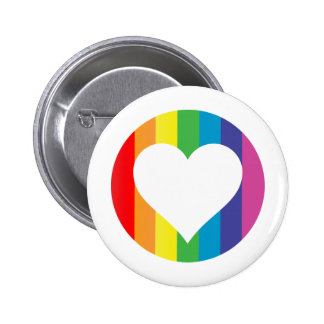 regenboog liefde ronde button 5,7 cm