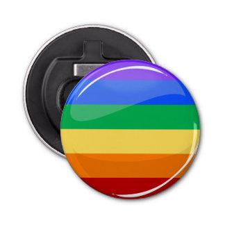 Regenboog om Vlag LGBT Button Flesopener
