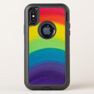 Regenboog OtterBox Defender iPhone X Hoesje