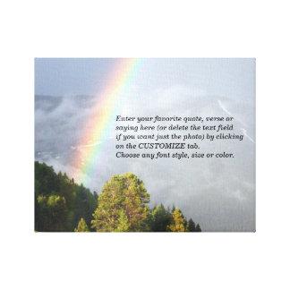 Regenboog over de Bergtop van Colorado met Uw Canvas Print