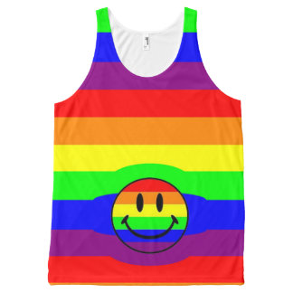 regenboog smiley All-Over-Print tank top