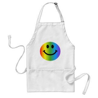 Regenboog Smiley Standaard Schort