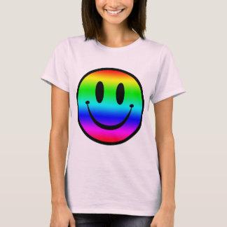 Regenboog Smiley V1 T Shirt