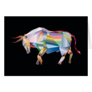 Regenboog van de Koe van de Boerderij van de Stier Wenskaart