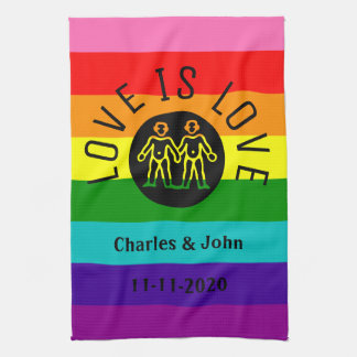 Regenboog van de Trots LGBT van de Typografie van Theedoek