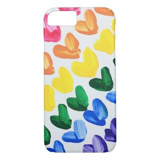 Regenboog van Liefde - de Kleurrijke Hand iPhone 8/7 Hoesje