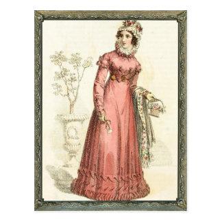 Regency Pink Dress Briefkaart