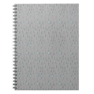 regendruppels notitieboeken