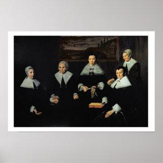 Regentesses van het Oude Mannen Almhouse, Haarlem Poster