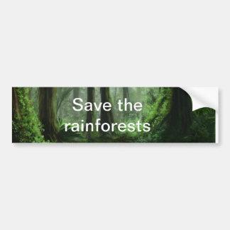 regenwoud bumpersticker