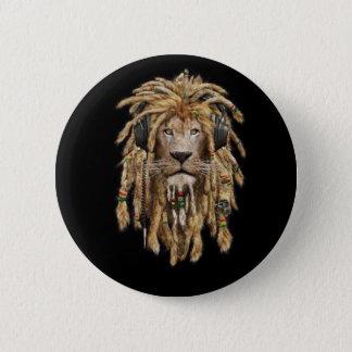reggae leeuw ronde button 5,7 cm