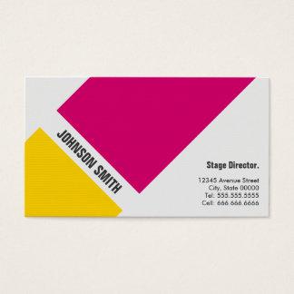 Regisseur - Eenvoudige Roze Geel Visitekaartjes