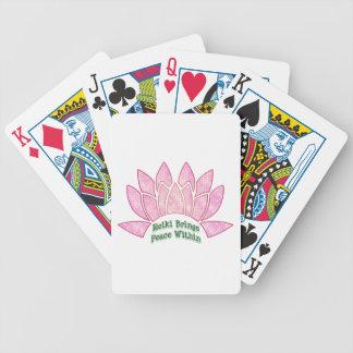 Reiki brengt Vrede Lotus Bicycle Speelkaarten
