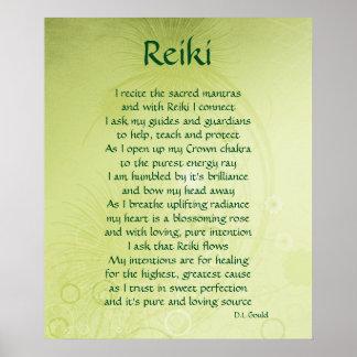 """""""Reiki"""" het poster van de gedichtenkunst"""