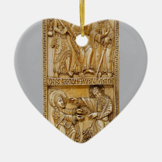Reis aan Emmaus en Noli me Tangere Keramisch Hart Ornament