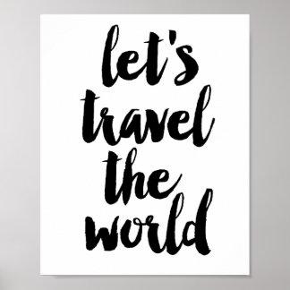 Reis de wereld poster