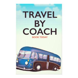 Reis door poster van de bus het Britse reis Briefpapier