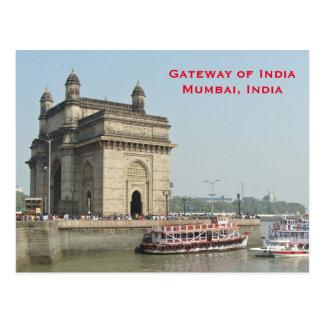 Reis van het Toerisme van India van Mumbai voegt Briefkaart