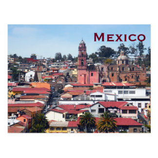 Reis van het Toerisme van Mexico voegt de Vintage Briefkaart
