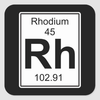 Relatieve vochtigheid - Rhodium Vierkante Sticker