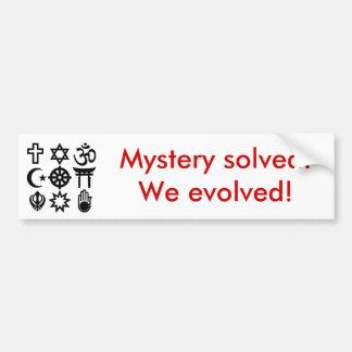 Religious_syms, opgeloste Geheimzinnigheid! Wij ev Bumpersticker