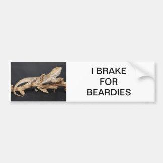 Rem voor Beardy Bumpersticker