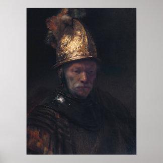 Rembrandt Van Rijn, Man met de Gouden Helm Poster