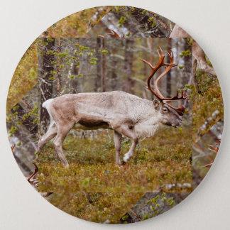 Rendier die in bos lopen ronde button 6,0 cm