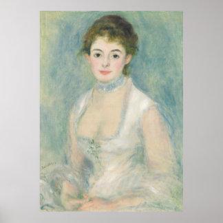 Renoir Mevrouw Henriot Portrait Fine Art Poster