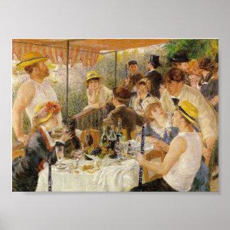 Renoir, Middagmaal van de Partij van het Roeien (m Poster