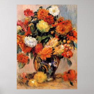 Renoir - Vaas van Bloemen, 1884 Poster