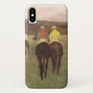 Renpaarden in Longchamp door Edgar Degas iPhone X Hoesje
