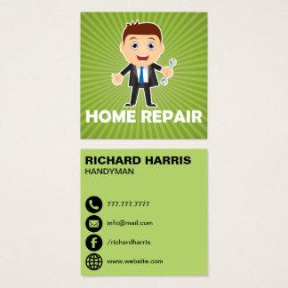 Reparatie | van het huis de Diensten van het Huis Vierkante Visitekaartjes