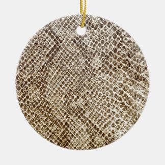 Reptiel huidpatroon rond keramisch ornament