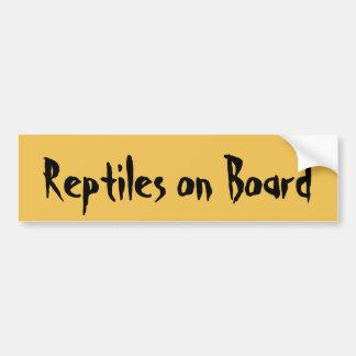 Reptielen aan boord bumpersticker