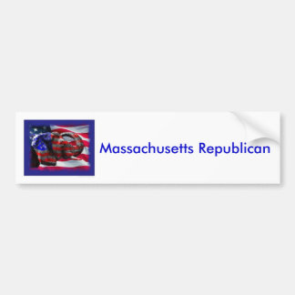 republikein, de Republikein van Massachusetts Bumpersticker