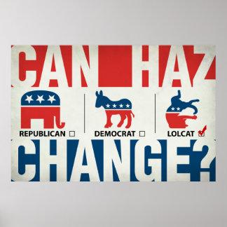 Republikein, Democraat, LolCat Poster