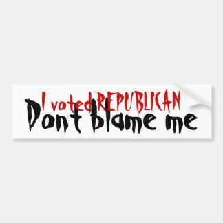 Republikeins - beschuldig me niet Bumpersticker