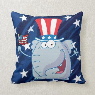 republikeins olifants tophat hoofdkussen sierkussen
