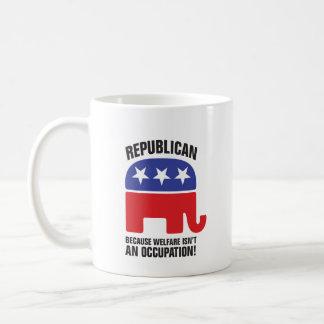 Republikeins - omdat het Welzijn geen Beroep is! Koffiemok